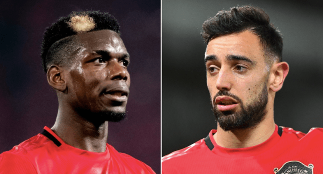 Manchester United stars Paul Pogba and Bruno Fernandes could join forces for the first time against Tottenham in the Premier League