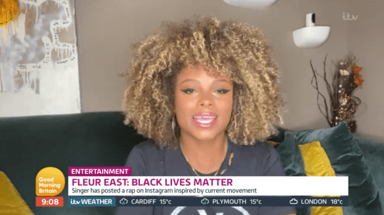 Fleur East pictured on Good Morning Britain