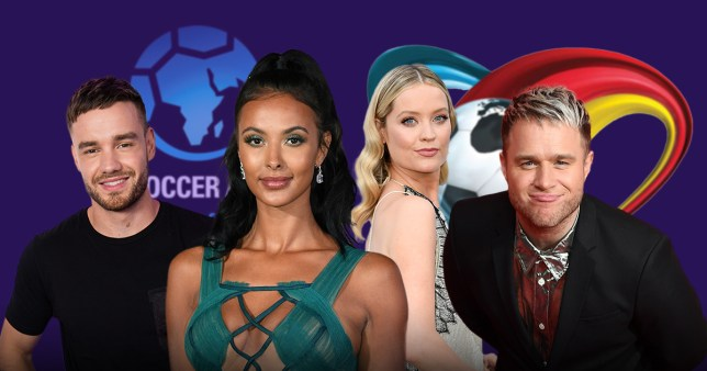 Soccer Aid: Liam Payne, Maya Jama, Laura Whitmore and Olly Murs pictured alongside each other