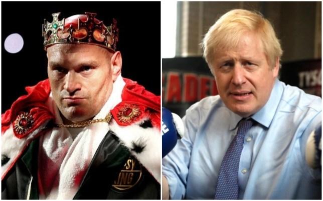 Tyson Fury and Boris Johnson