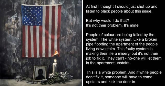 Banksy reveals new Black Lives Matter artwork inspired by George Floyd's death