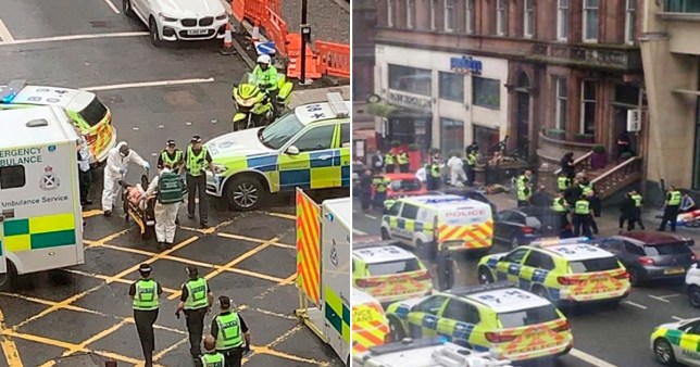 Composite image of hotel at centre of Glasgow stabbing