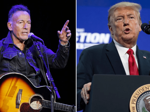 Bruce Springsteen brands Trump a 'threat' to democracy and celebrates president's polls 'crashing through the basement'