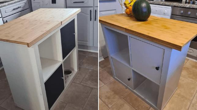 DIY island from Ikea