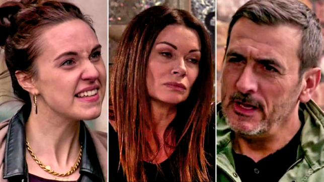 Chesley, Carla and Peter in Coronation Street