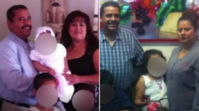 Photos d'un couple de victimes de Covid avec leurs enfants