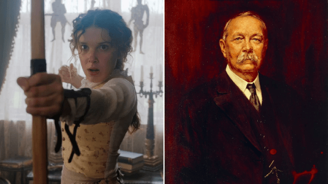 Millie Bobby Brown/Sir Arthur Conan Doyle portrait