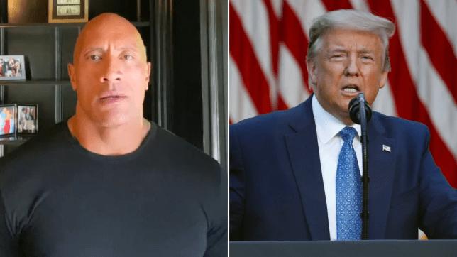 Dwayne Johnson slams Trump