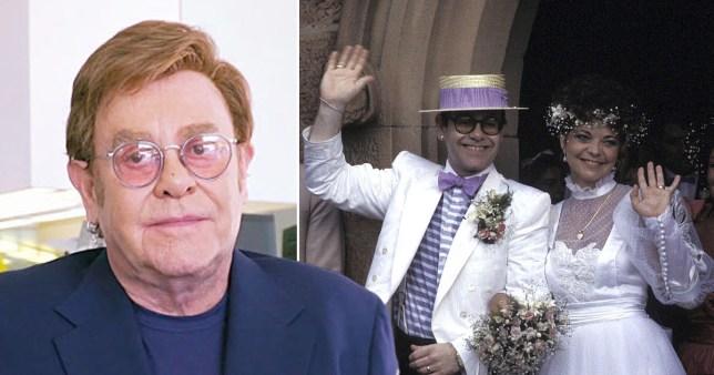 Sir Elton John and his wedding to Renate Blauel