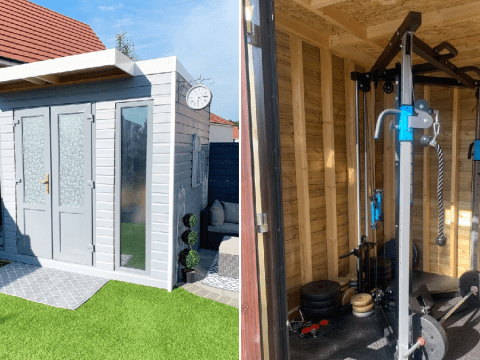 Couple quoted £12,000 for home gym build their own for just £900