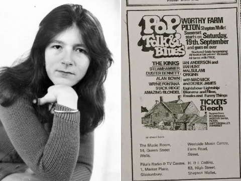 I was the first female musician to play at Glastonbury 50 years ago