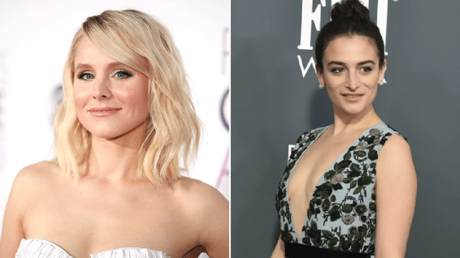 A comp of kristen bell and Jenny slate