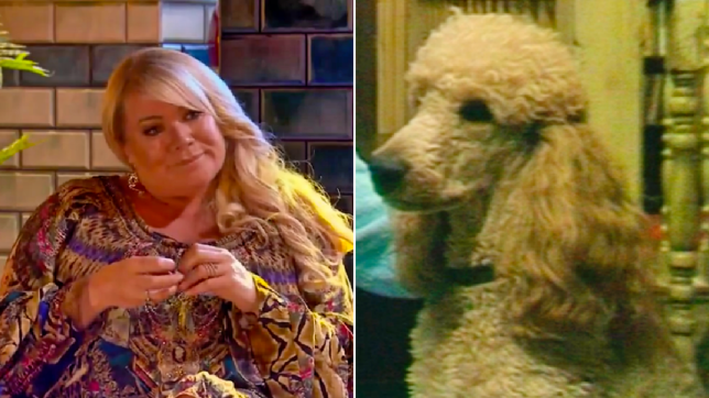 Letitia Dean in Secrets From The Square and Roly in EastEnders
