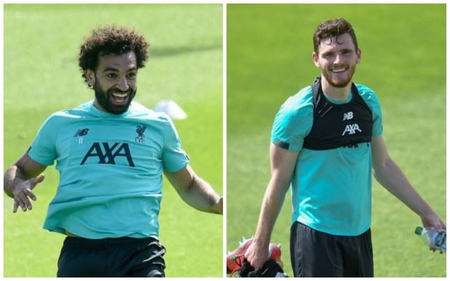 Liverpool stars Mo Salah and Andy Robertson