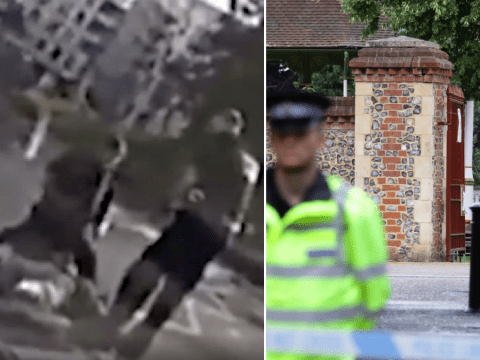 Moment terror suspect is arrested 'after stabbing three people to death'
