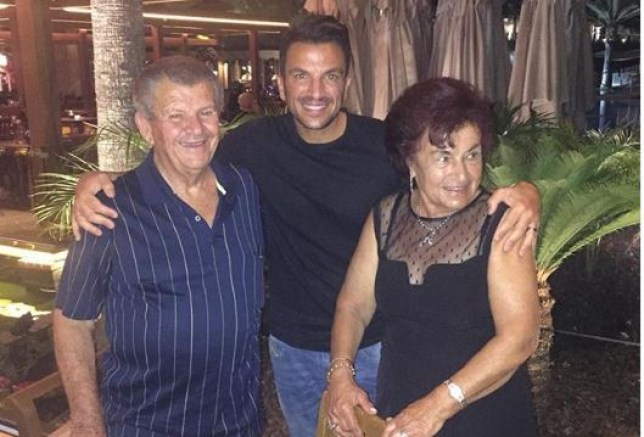 Peter Andre and his parents
