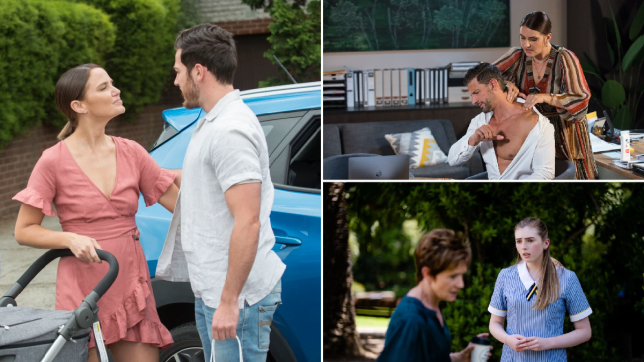 Elly and Shaun, Naomi and Pierce, Susan and Mackenzie in Neighbours