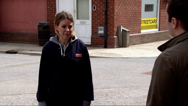 Abi is sad in Coronation Street