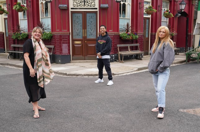 Maisie Smith, Zack Morris and Lorraine Stanley in EastEnders: Secrets From The Square - Ep. 8