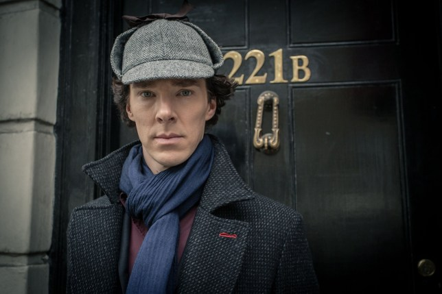 Television Programme: Sherlock with Benedict Cumberbatch as Sherlock Holmes. For use in UK, Ireland or Benelux countries only. BBC undated handout photo of Benedict Cumberbatch as Sherlock Holmes. One of television's biggest cliffhangers since who shot JR? will be solved on New Year's Day when millions of Sherlock fans find out how the master detective survived his rooftop leap at the end of the last series. PRESS ASSOCIATION Photo. Issue date date: Saturday December 28, 2013. Fans tuning in to the last series saw Cumberbatch's character seemingly lying dead on the pavement after tumbling from the top of a building, before resurfacing very much alive and watching over his own grave. See PA story. Photo credit should read: Robert Viglasky/PA Wire NOTE TO EDITORS: Not for use more than 21 days after issue. You may use this picture without charge only for the purpose of publicising or reporting on current BBC programming, personnel or other BBC output or activity within 21 days of issue. Any use after that time MUST be cleared through BBC Picture Publicity. Please credit the image to the BBC and any named photographer or independent programme maker, as described in the caption.