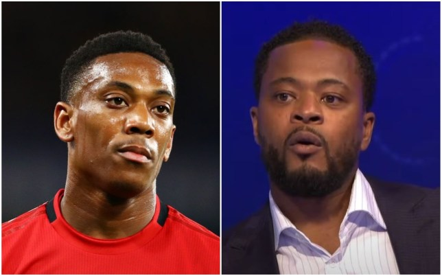 Patrice Evra says Anthony Martial was 'let down' by Manchester United