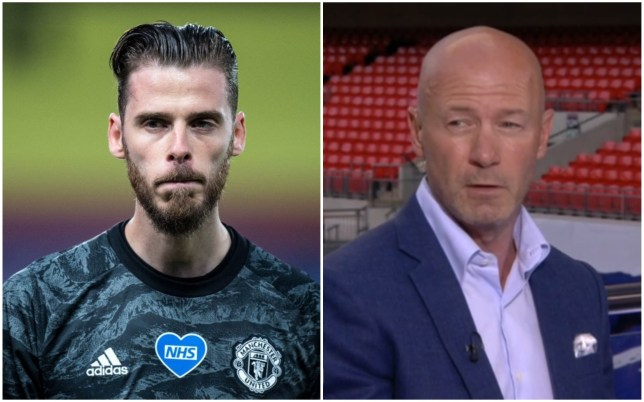Alan Shearer believes David De Gea should be replaced at Manchester United