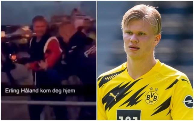 Borussia Dortmund striker Erling Haaland was thrown out of a club in Norway