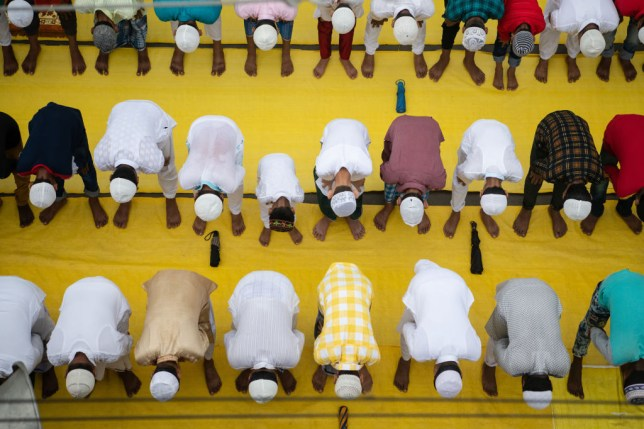 Muslims offer Eid al-Adha prayers