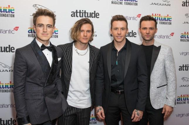 McFly (l-r) Tom Fletcher, Dougie Poynter, Harry Judd and Danny