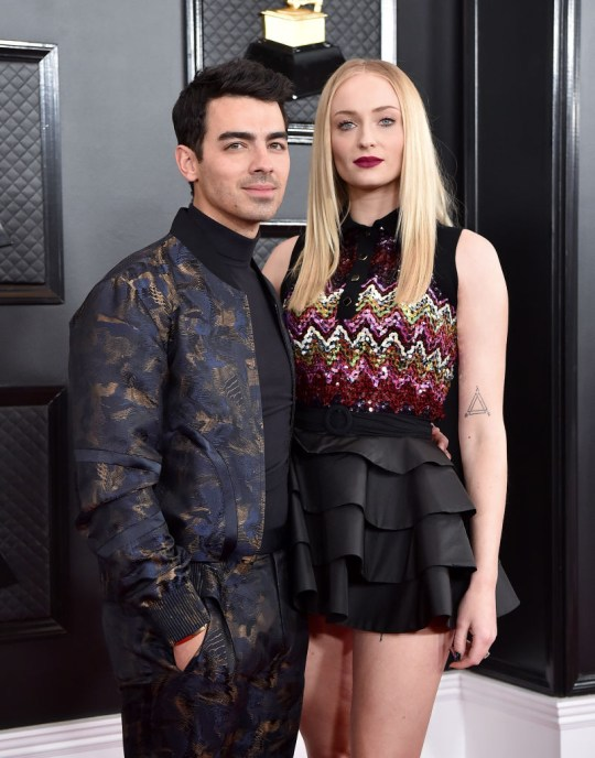 Sophie Turner and Joe Jonas pictured at Grammys party