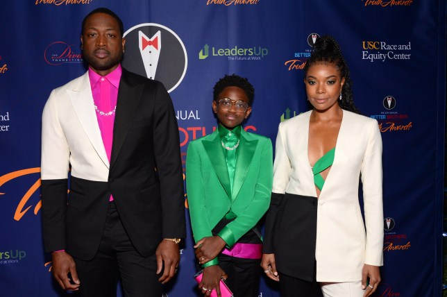 Dwyane Wade and Gabrielle Union with daughter Zaya