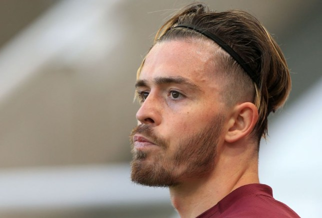 Manchester United transfer target Jack Grealish looks on during Aston Villa's Premier League clash with Newcastle