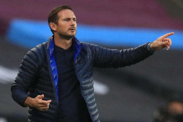 Chelsea's English head coach Frank Lampard gestures during the English Premier League football match between West Ham United and Chelsea at The London Stadium, in east London on July 1, 2020.