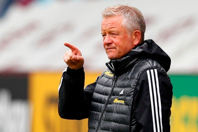 Sheffield United's English manager Chris Wilder gestures from the touchline during the English Premier League football match between Burnley and Sheffield United at Turf Moor in Burnley, north west England on July 5, 2020.
