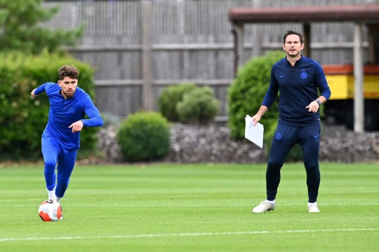 Frank Lampard and Jorginho during Chelsea Training Session