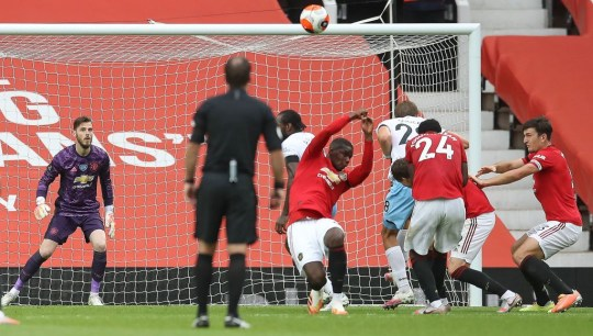 Man Utd star Paul Pogba handball versus West Ham
