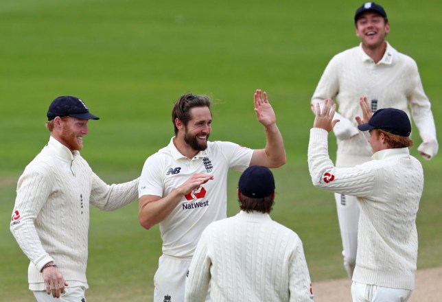Chris Woakes took six wickets in England's series-clinching win over West Indies