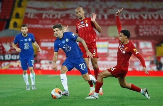 Christian Pulisic during Liverpool FC v Chelsea FC - Premier League