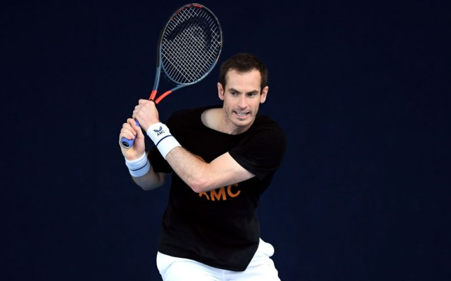 Andy Murray of Union Jacks trains during a Preview Day prior to the St. James's Place Battle Of The Brits Team Tennis at The National Tennis Centre on July 26, 2020 in London, England.