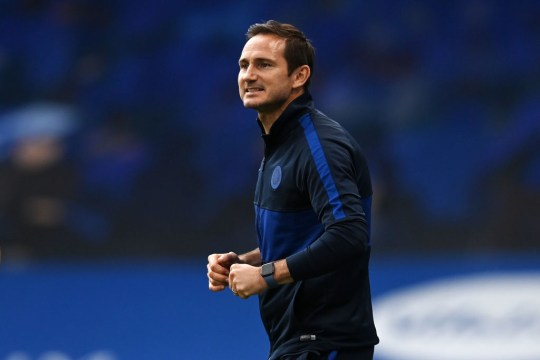 Chelsea manager Frank Lampard looks on during the Premier League match between Chelsea FC and Wolverhampton Wanderers at Stamford Bridge on July 26, 2020 in London, England. Football stadiums across Europe remain empty due to the coronavirus pandemic as government social distancing laws ban fans inside venues, resulting in all matches being held behind closed doors.
