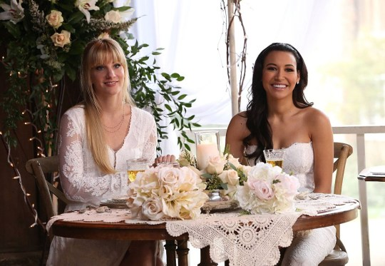 Santana and Brittany marry on Glee
