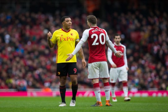 Troy Deeney during Arsenal v Watford - Premier League