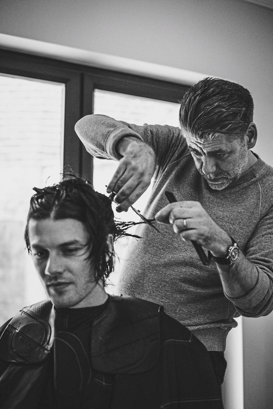 CUTTING IT: Hair stylist Joe Mills is pleased to be back at work