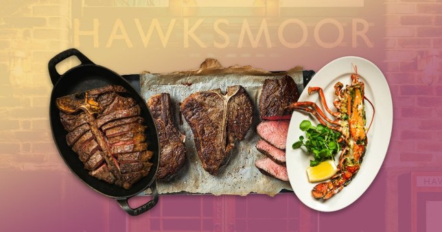 Hawksmoor food on colourful background