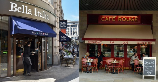 A total of 91 Bella Italia, Cafe Rouge and Las Iguanas restaurants won't reopen.