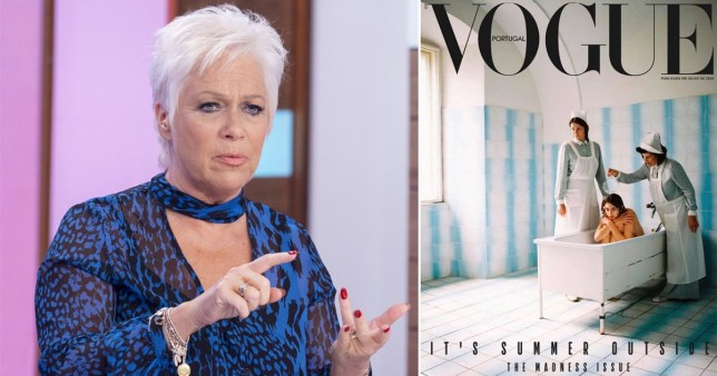 Denise Welch and Vogue Portugal cover