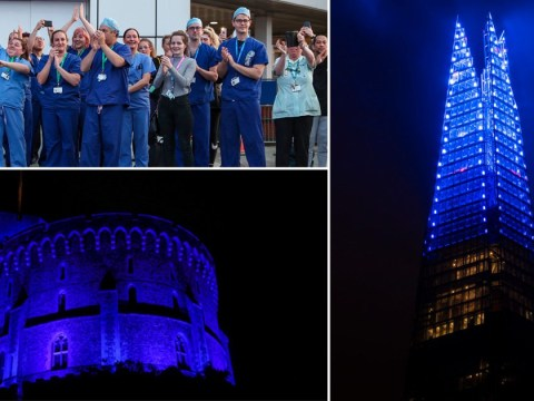 Minute's silence to be held for coronavirus victims as buildings lit up blue for NHS