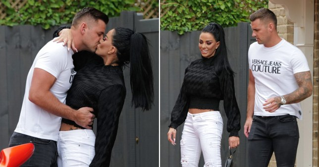 Katie Price kisses Carl Woods