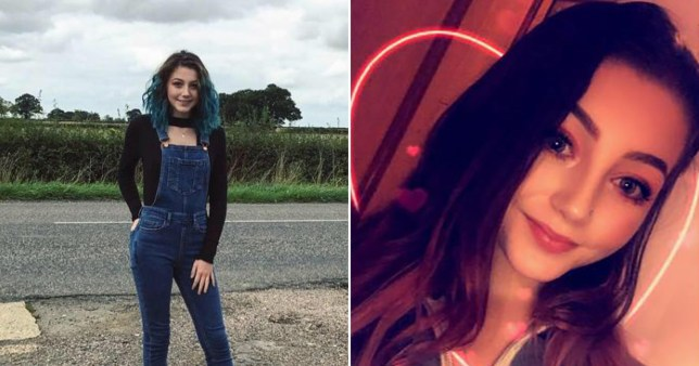 Two photos of Millie Greenway, 17, who killed in a car crash