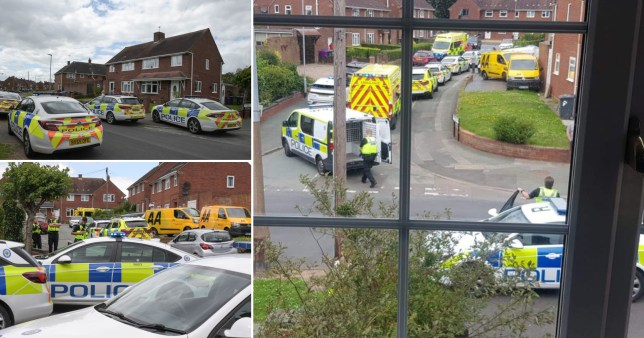 Two paramedics have been stabbed at a property in Wolverhampton during a call-out.